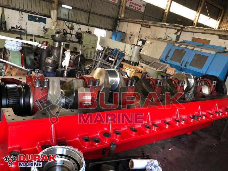 MAK 6M551 CRANKSHAFT - ENGINE BLOCK - BEDPLATE