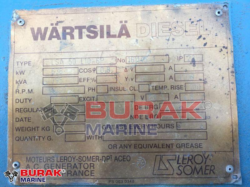 WARTSILA 4R22/26 Gensets